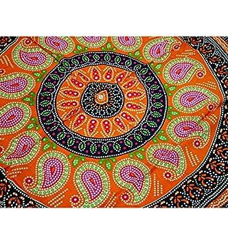 Artisanal Tapicería diseño Mandala 170 x 115 cm/Pareo Toalla de Playa, pañuelo, Sarong.: Amazon.es: Hogar