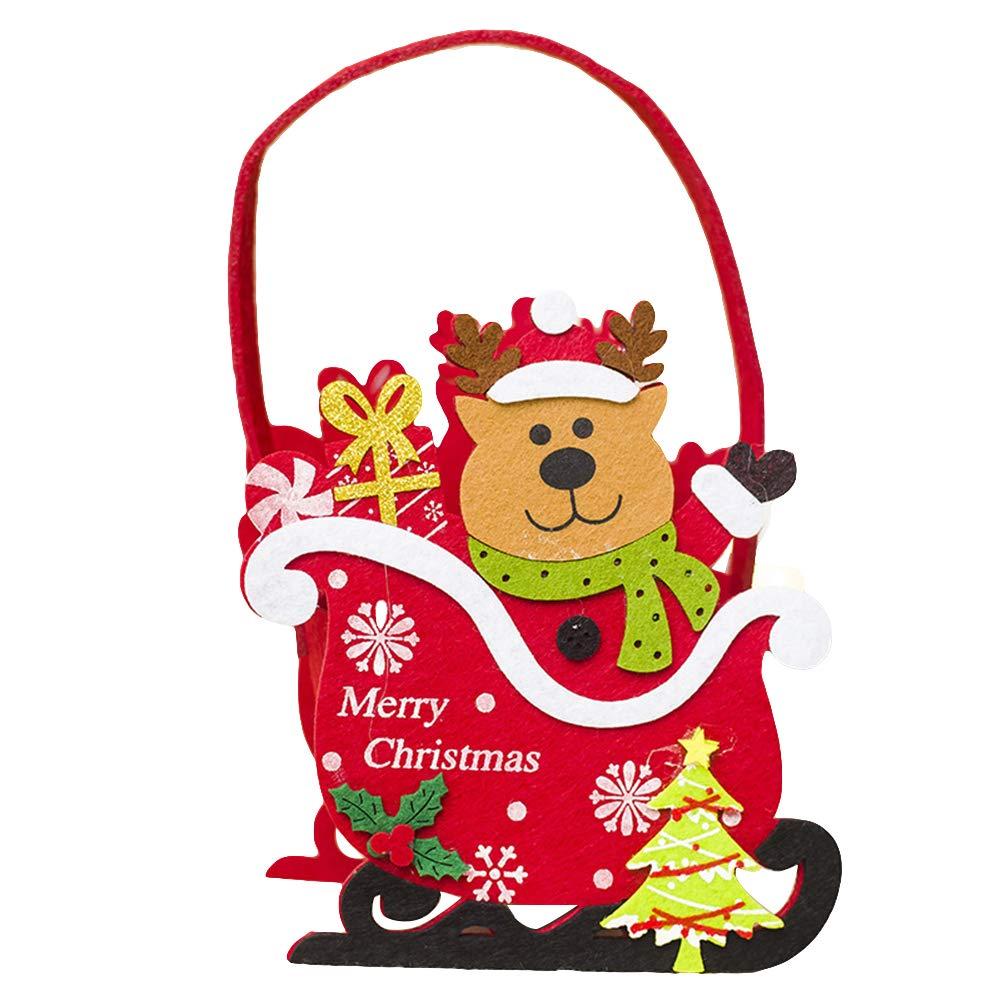 VelvxKl Xmas Candy Gift Bag Baloncesto Storage Navidad Papá Noel ...