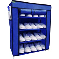 Flipzon Multi-Purpose Shoe Rack with 4 Fabric Shelves Organiser