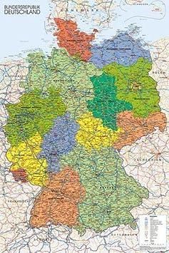 Amazon De Poster Deutschland Karte Preiswertes Plakat Xxl