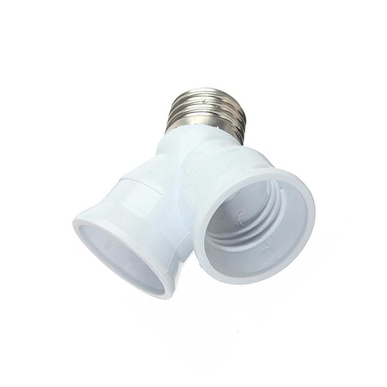 E27-2E27A Retard de flamme PBT Adaptateur de porte-lampe EHAO 3PACK E27 /à E27 Y Lampadaire /à lampe de style Booster 2 Splitter Convertor