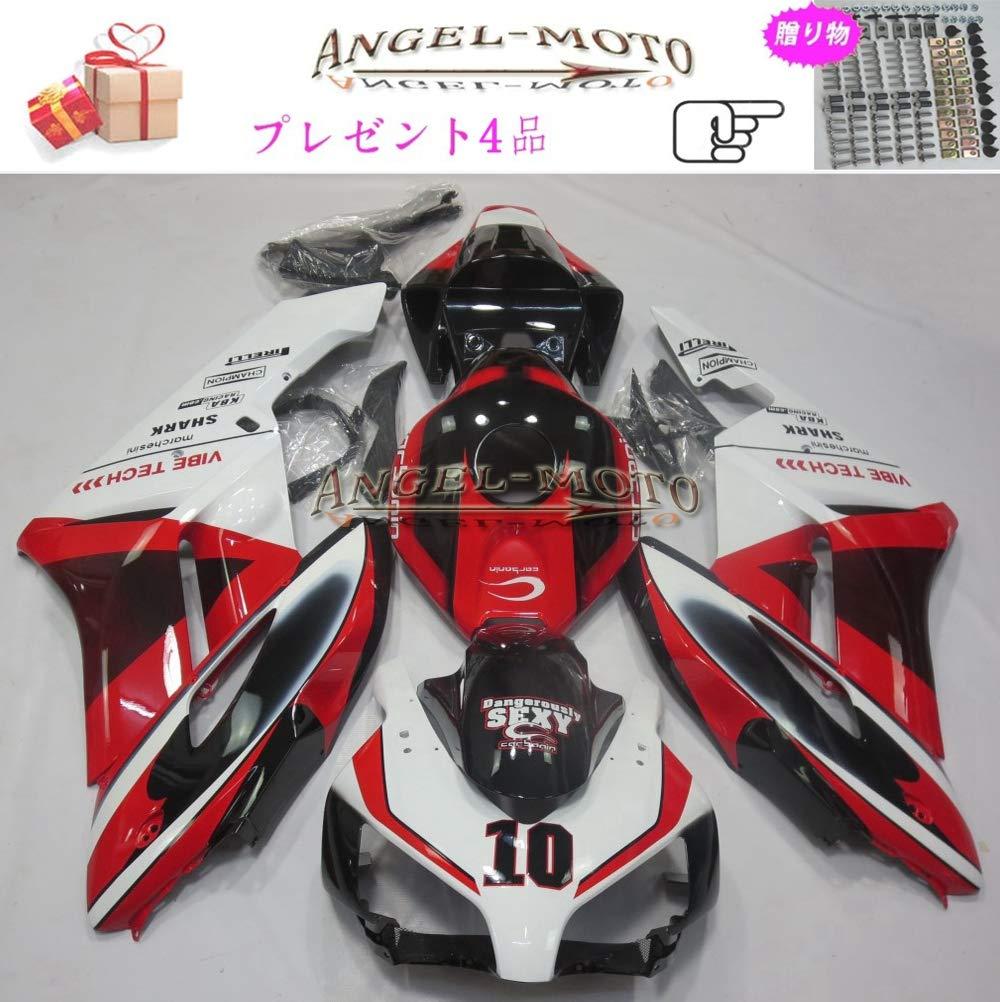 Angel-moto バイク外装パーツ 対応車体 Honda ホンダ CBR1000RR 2004 2005 CBR 1000 CBR1000 04-05 カウル フェアキット ボディ機械射出成型ABS樹脂 フェアリング パーツセット フルカウルセットの H138   B07JHSNWHH