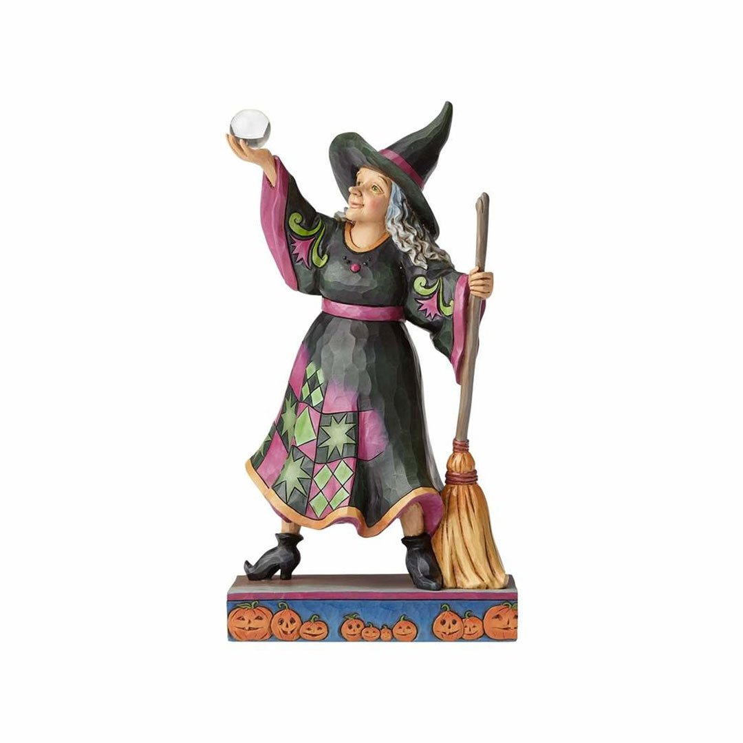 Enesco Jim Shore Heartwood Creek Witch with Crystal Ball/Broom