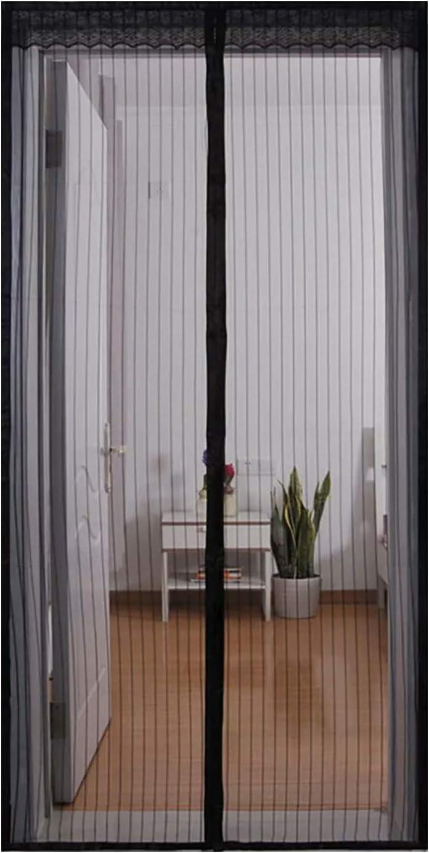 90 x 220 cm, Nero Magneti e Velcro Resistente Traspirante per Porta Finestra Qemsele Zanzariera Magnetica per Porte Rete di Ottima Tenda Attrezzi per Porta Zanzariera Magnetica 90 x 210cm