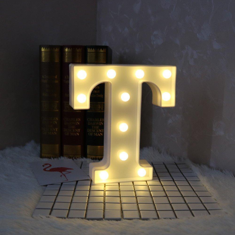SDOUBLEM LED Marquee Letter Lights Alphabet Light Up Sign Table Decoration K