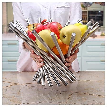 XL_Fruteros Cesta de Frutas de Acero Inoxidable Creativa ...