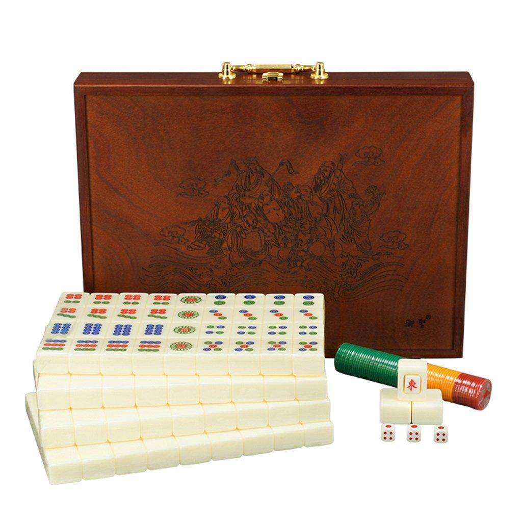 LI JING SHOP - Großes Haus Handreiben Mahjong, Acryl Mahjong Karte, 1 Satz von 146, Größe: L-3.7 * 2.8 * 2.2CM, L-3.9 * 3.0 * 2.3CM, L-4.0 * 3.1 * 2.3CM, L-4.2 * 3.1 * 2.3CM ( größe : L-4.0*3.1*2.3CM )