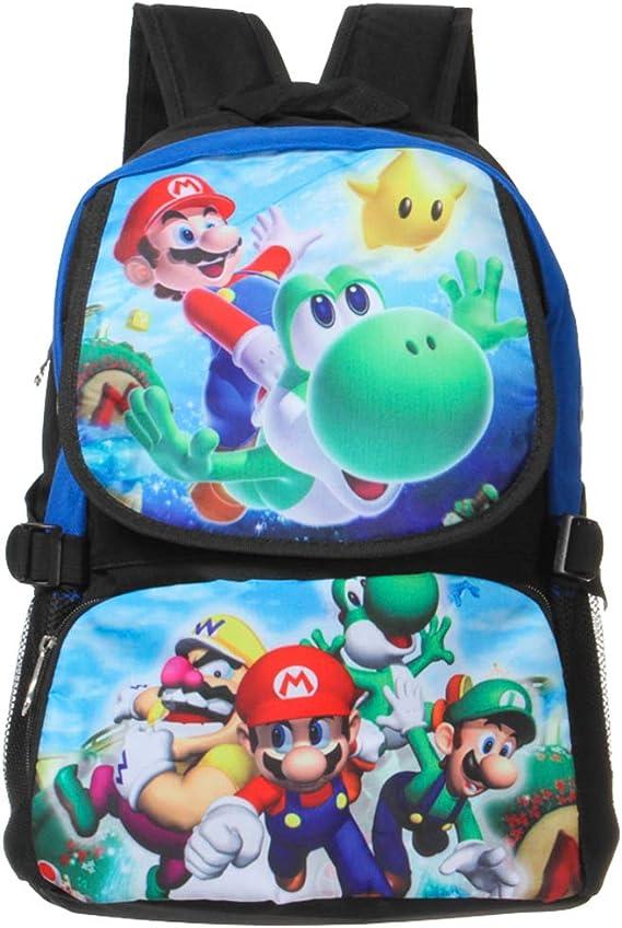 Bonamana Sac /à dos pour adolescents Motif dessin anim/é Super Mario b taille unique