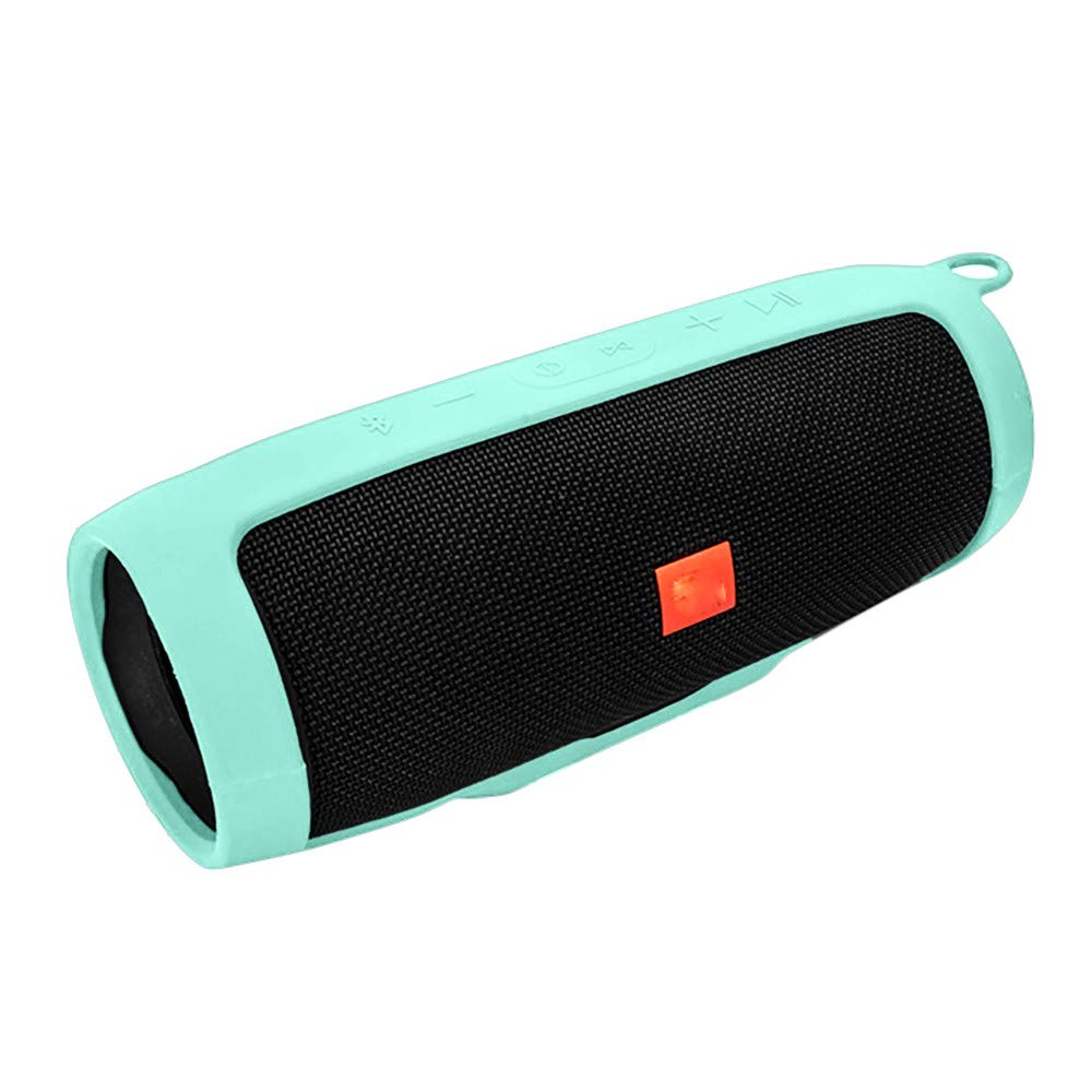 Tuu Portable Mountaineering Silicone Case for JBL charge3 Bluetooth Speaker (Sky Blue)