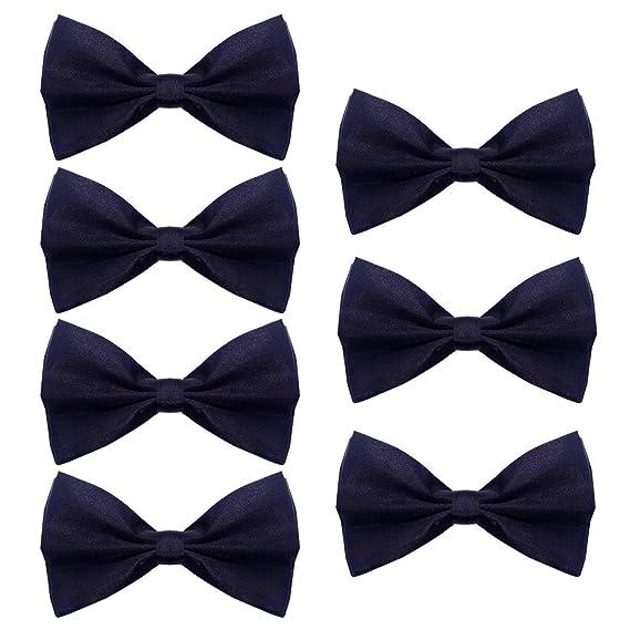 Pajaritas Hombre, 7 corbatas de lazo unisex ajustables de una ...