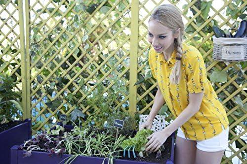 Huerto urbano GREENLAND de 90x60x75 cm. Para terraza/jardín. Color ...