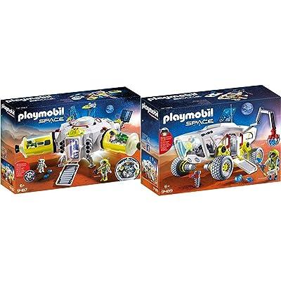 PLAYMOBIL 9487 Spielzeug-Mars-Station & 9489 Spielzeug-Mars-Erkundungsfahrzeug: Toys & Games