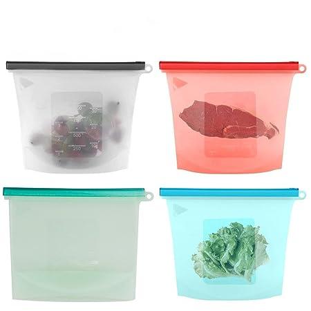 Tekitfun - Bolsa de silicona reutilizable para almacenamiento de ...