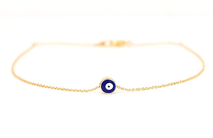 Amazon navy blue evil eye necklace small evil eye pendant on navy blue evil eye necklace small evil eye pendant on a 14k gold delicate chain mozeypictures Images