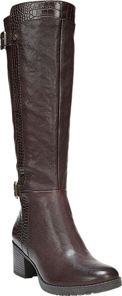 Naturalizer Women's Rozene Tall Boot B01N5K8WPP 4 B(M) US|Oxford Brown Leather/Printed Croco
