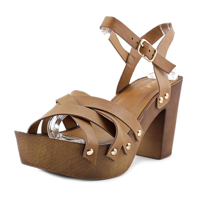 Qupid Womens Beekler Faux Leather Heels Platform Sandals