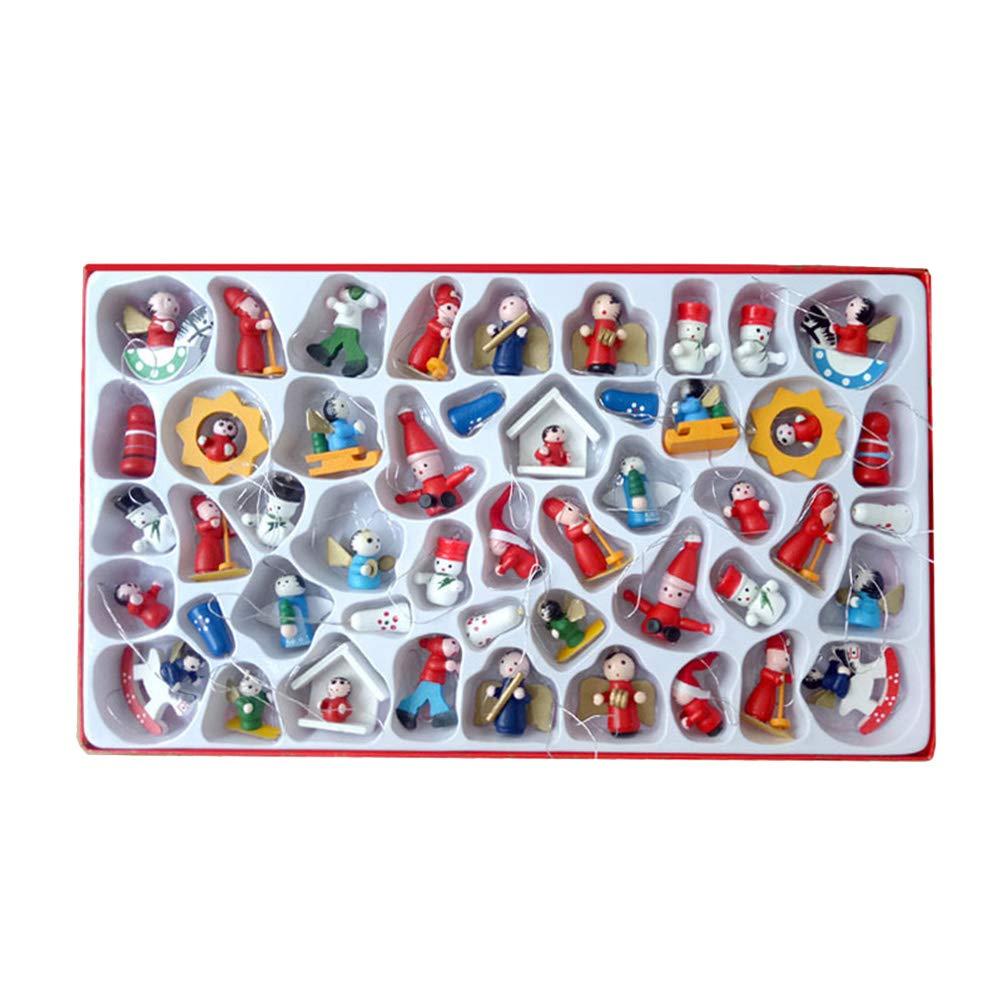 STOBOK Navidad miniaturas á rbol de Navidad pequeñ o tí tere Colgante Decoraciones para Fiestas de Regalo