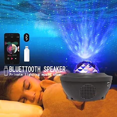 Led Night Light Projector Kids Sky Project Light 3 In 1 Fairy Ocean Starry Light Combination Bluetooth Speaker For Child Baby Room Home Ambiance Holidy Voice Remote Control Galaxy Light - - Amazon.com