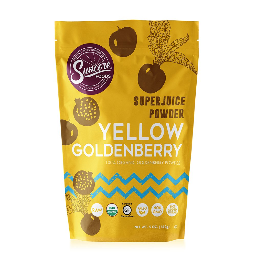Suncore Foods - 100% Organic Yellow Goldenberry Superjuice Powder by Suncore Foods