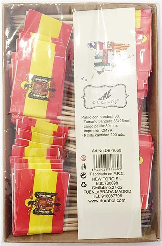Compra new toro Palillos de Tapas con Bandera, 200 Unidades Toothpick Flags Etiquetas Pequeñas para Magdalenas Decorar Tartas Bocadillos Cumpleaños Boda Fiesta de Bienvenida 3.5 * 2.5cm (ÁGUILA) en Amazon.es