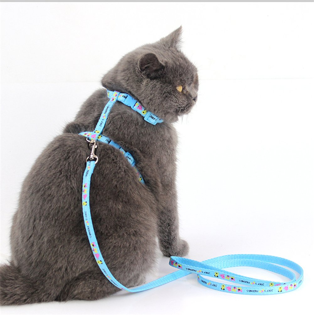 WORDERFUL Cat Harness and Leash Set Adjustable Pet Harness Vest 2 Pack for Small Animal Pattern Random by WORDERFUL (Image #7)