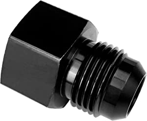 "1/8 NPT Female to 8AN Male Flare Hose Union Oil Tank Fittings Aluminum AN8 to 1/8"" NPT Fuel Line Adapter Black"