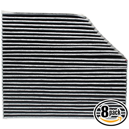 8-Pack Replacement Cabin Air Filter for VW-AUDI-PORSCHE 8K0 819 439A Car/Automotive - Activated Carbon, ACF-11179