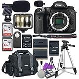 Canon EOS 7D Mark II Digital SLR Camera Body with W-E1 Wi-Fi Adapter, 2x Sandisk 64GB SDHC Memory Cards, Accessory Bundle