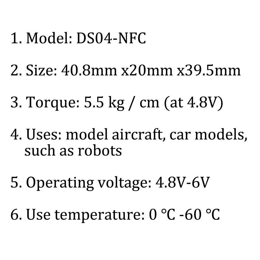 ReFaXi Motor Giratorio Continuo del Engranaje De 1 360 Grados para El Robot Modelo del Coche De Los Aviones