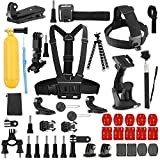 efluky 43-in-1 Outdoor Sports Action Camera Accessories Kit for GoPro Hero 6/fusion/5/Session/4/3/2/HD/HERO+/SJ4000/SJ5000/SJ6000/DBPOWER/AKASO/APEMAN/Sony Sports DV and More