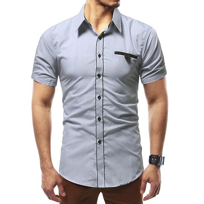 Amazon.com: Heykeson - Camiseta de manga corta para hombre ...