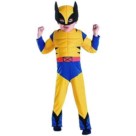 Xmen Boy disfraz de: Lobezno muscular pequeño: Amazon.es: Hogar