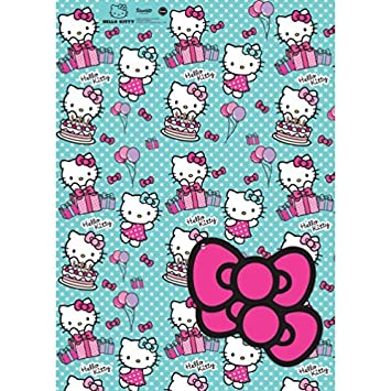57347d7de Image Unavailable. Image not available for. Color: Hello Kitty 2 Sheets Of Gift  Wrap ...
