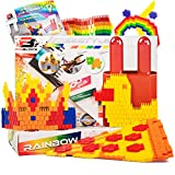 Pinblock Freestyle ''Rainbow'' - Creative Smart Building Set for Boys and Girls with 1000 Interlocking and Rotating Blocks (200pcs each - Yellow, Orange, Purple, Green, Red)