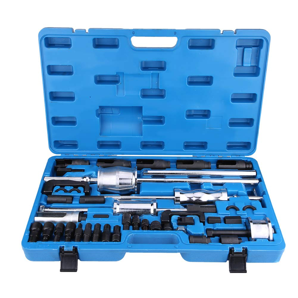 Diesel Injector Extractor, 40pcs Common Rail Injector Remover Tool Kit with 3 Slide Hammers for Car Puller Injection Repairing