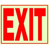 Hillman 840201 11 X 12-Inch Plastic Glow-In-The-Dark Exit Sign