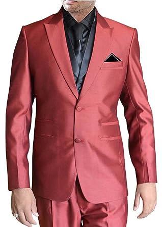 INMONARCH Aspecto clásico rojo carmesí 6 pc traje esmoquin ...