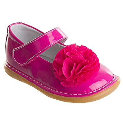 409636cb7fb Amazon.com | Wee Squeak, Girls, Peony Shoe, Hot Pink size 9 | Mary Jane