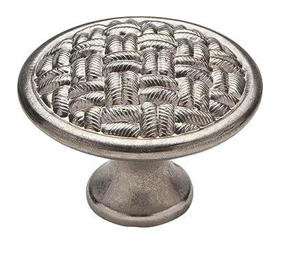 Amazon Com Cabinet Knob 1 3 8 Diameter Basket Weave Muted
