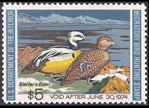 Scott RW40 $5 Federal Duck Stamp Mint Very Fine. Never Been Hinged.