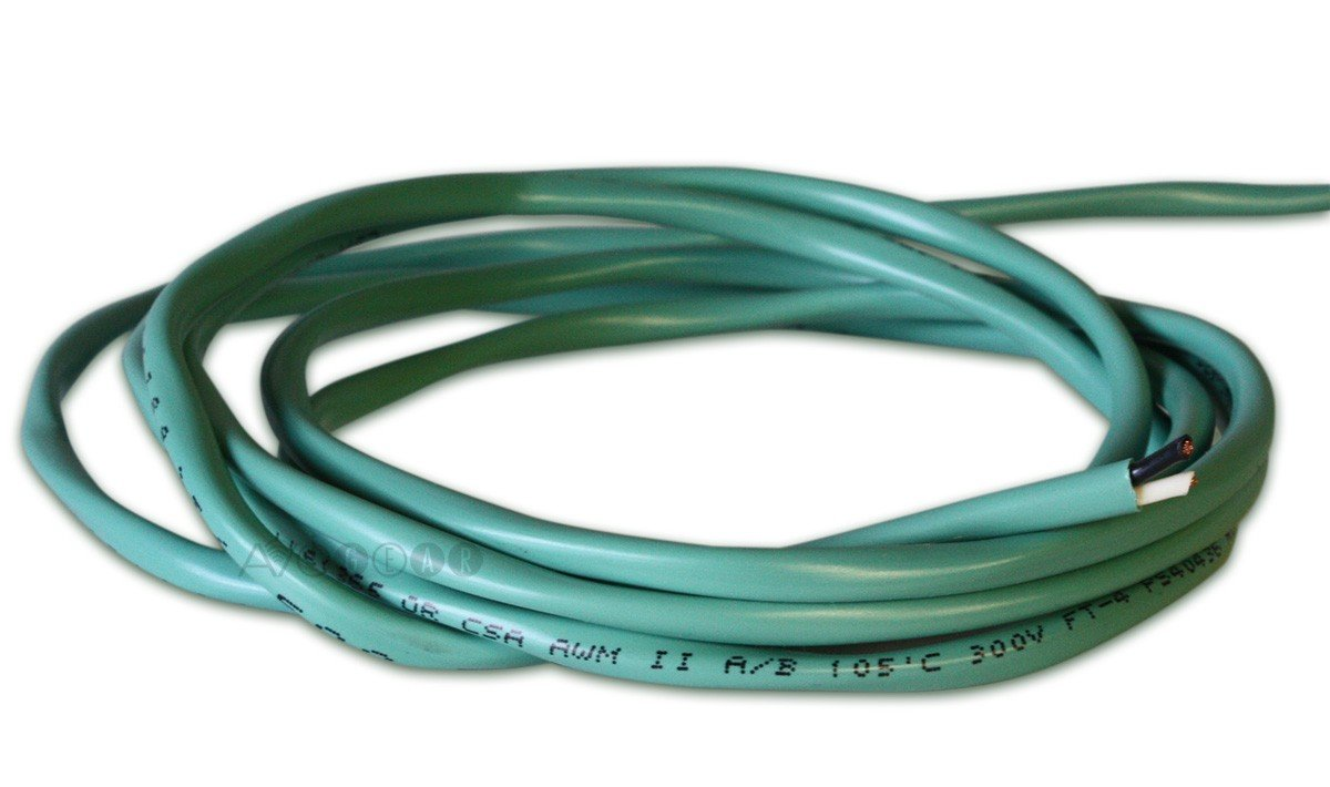 ThruSound Green 16 AWG FT4 In-Wall Speaker Wire - Made in Canada (50ft, 4 Conductor) 9164B