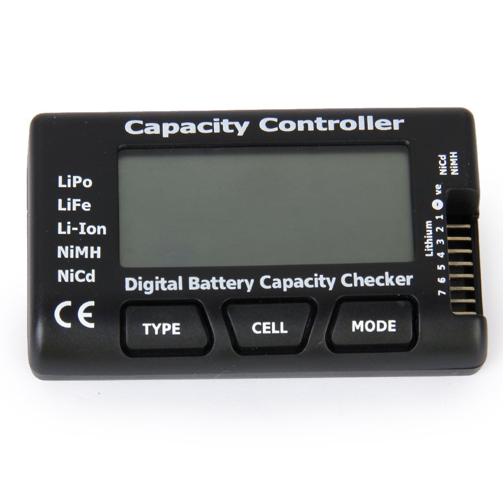 Unicoco Capacité de la Batterie numérique testeur Indicateur Checker pour LiPo Life Li-ION NiCd NiMH