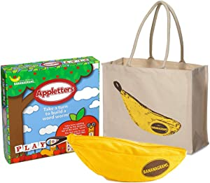 Word Games Bundle: Bananagrams, Appleletters Plus a Tote Bag