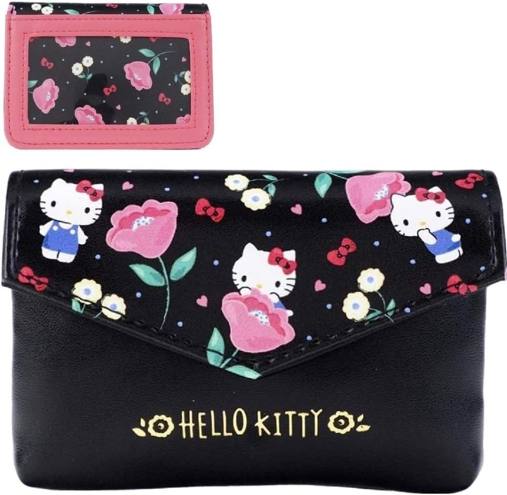 Hello Kitty handmade zipper fabric coin change purse card holder