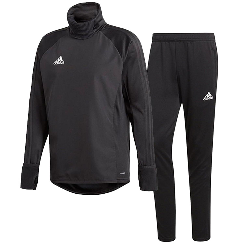 アディダス(adidas) CONDIVO18 ウォームトップ1 & トレーニングパンツ(ブラック/ブラック) DJV46-CF4343-DJU99-BS0526 B0798BFTN7ブラック/ブラック 日本 J/L-(日本サイズL相当)