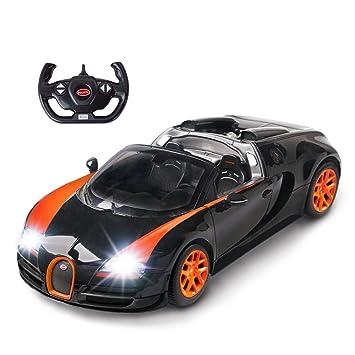 Amazon Com Rastar Bugatti Toy Car 1 14 Bugatti Remote Control Car