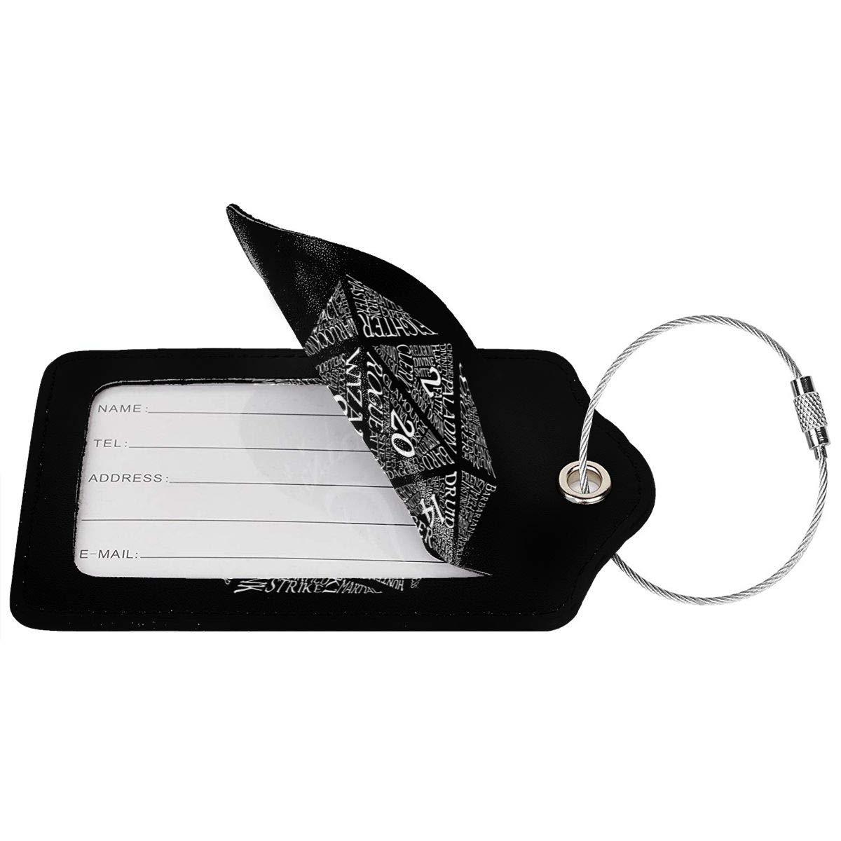 Dungeons /& Dragons Leather Luggage Tag Travel ID Label For Baggage Suitcase