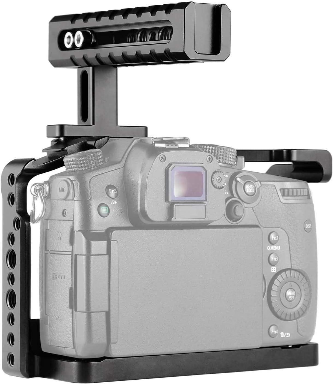 SmallRig Jaula Kit ( QR Placa Base /& Top Handle ) para Panasonic Lumix GH5//GH5S 2051