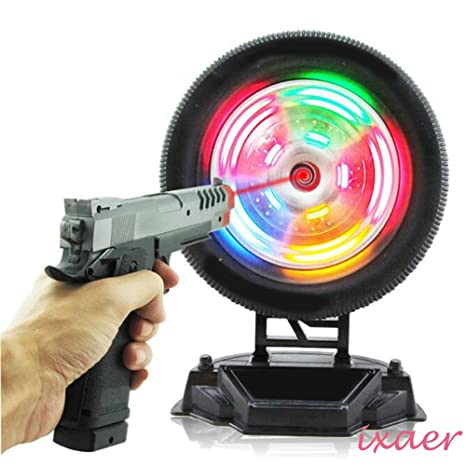 Ixaer Shooting Wheel Target Game Induction Flash Music ToyChristmas Gift Birthday Present