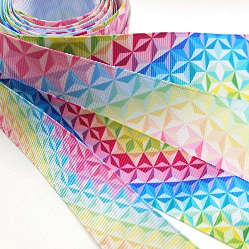 Dandan DIY Assorted 12Yards Diamond Grosgrain Ribbon Craft DIY Gift Packing Hair Bow Accessory MIX4